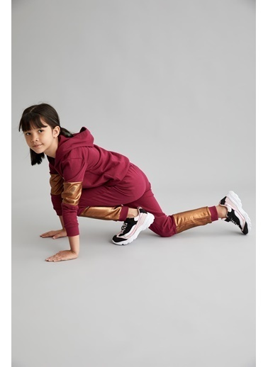 Defacto –Fit Kız Çocuk Renk Bloklu Jogger Eşorman Alt Mor